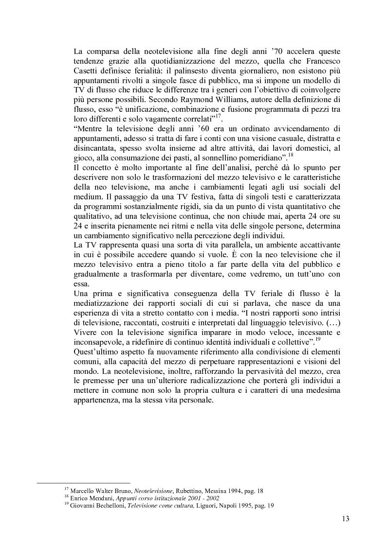 Anteprima della tesi: Vita reale e vita televisiva: ''La vita in diretta'', Pagina 8