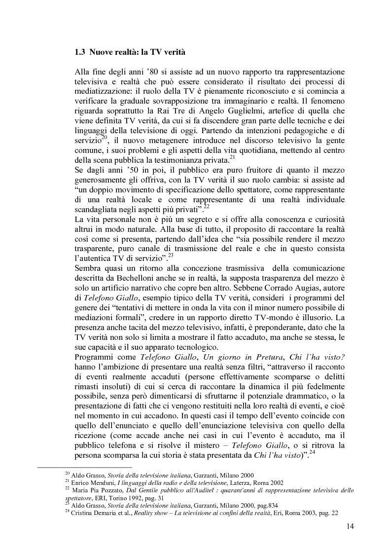 Anteprima della tesi: Vita reale e vita televisiva: ''La vita in diretta'', Pagina 9