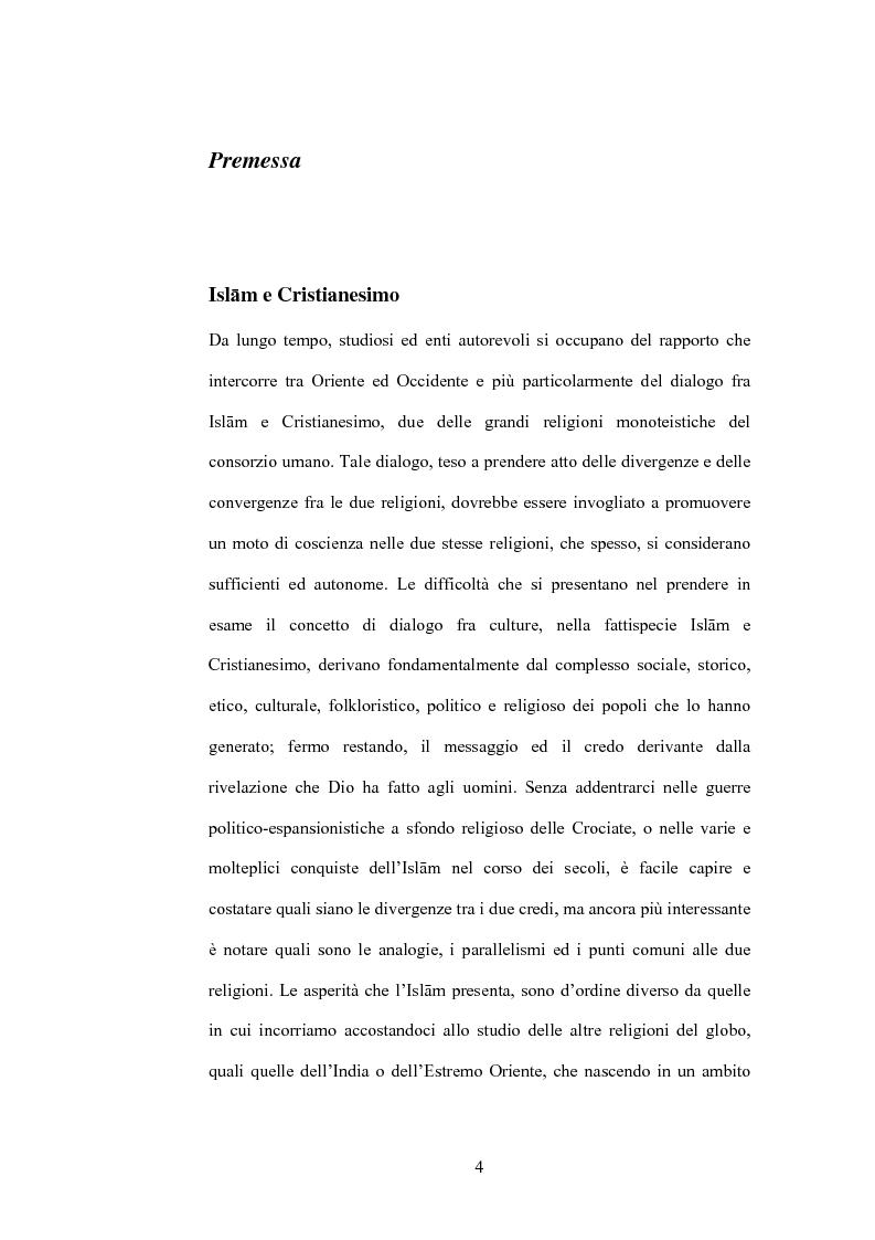 Anteprima della tesi: Cristo, un profeta tra Bibbia e Corano, Pagina 1