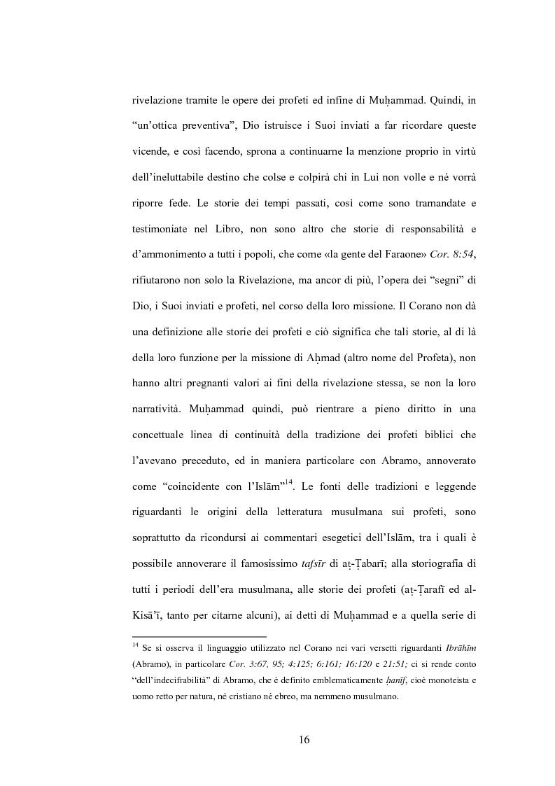 Anteprima della tesi: Cristo, un profeta tra Bibbia e Corano, Pagina 13