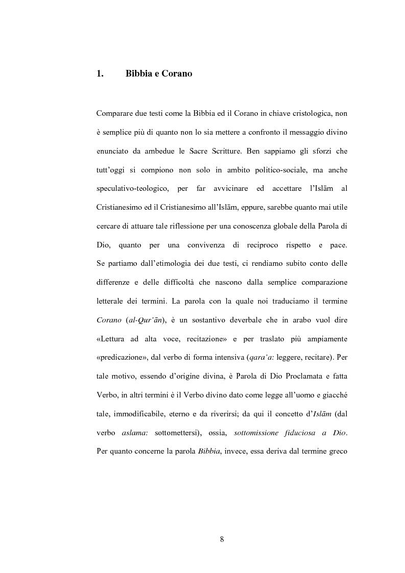 Anteprima della tesi: Cristo, un profeta tra Bibbia e Corano, Pagina 5