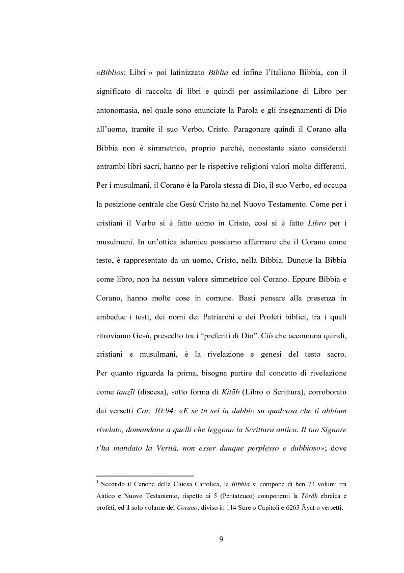 Anteprima della tesi: Cristo, un profeta tra Bibbia e Corano, Pagina 6