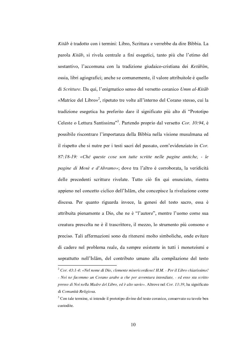 Anteprima della tesi: Cristo, un profeta tra Bibbia e Corano, Pagina 7