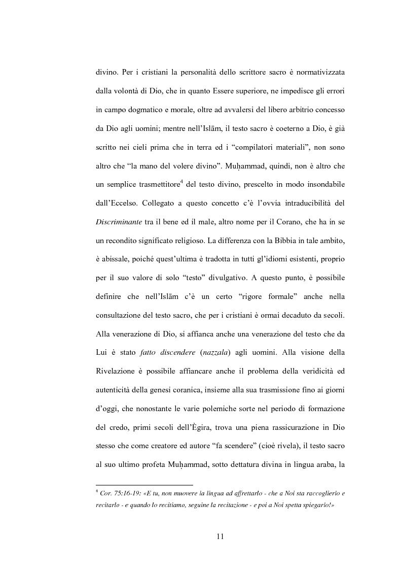 Anteprima della tesi: Cristo, un profeta tra Bibbia e Corano, Pagina 8