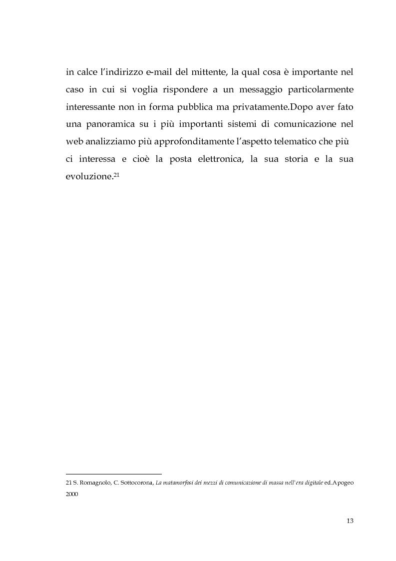 Anteprima della tesi: Spamming: profili tecnici e giuridici, Pagina 13