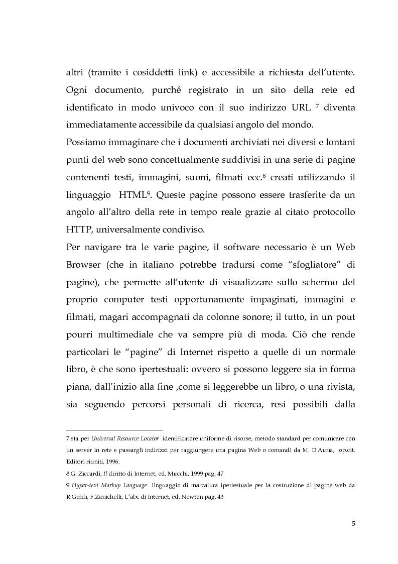 Anteprima della tesi: Spamming: profili tecnici e giuridici, Pagina 5