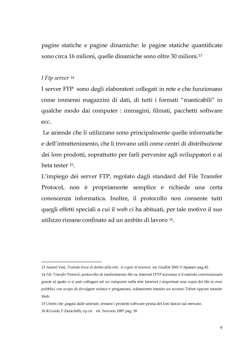 Anteprima della tesi: Spamming: profili tecnici e giuridici, Pagina 9