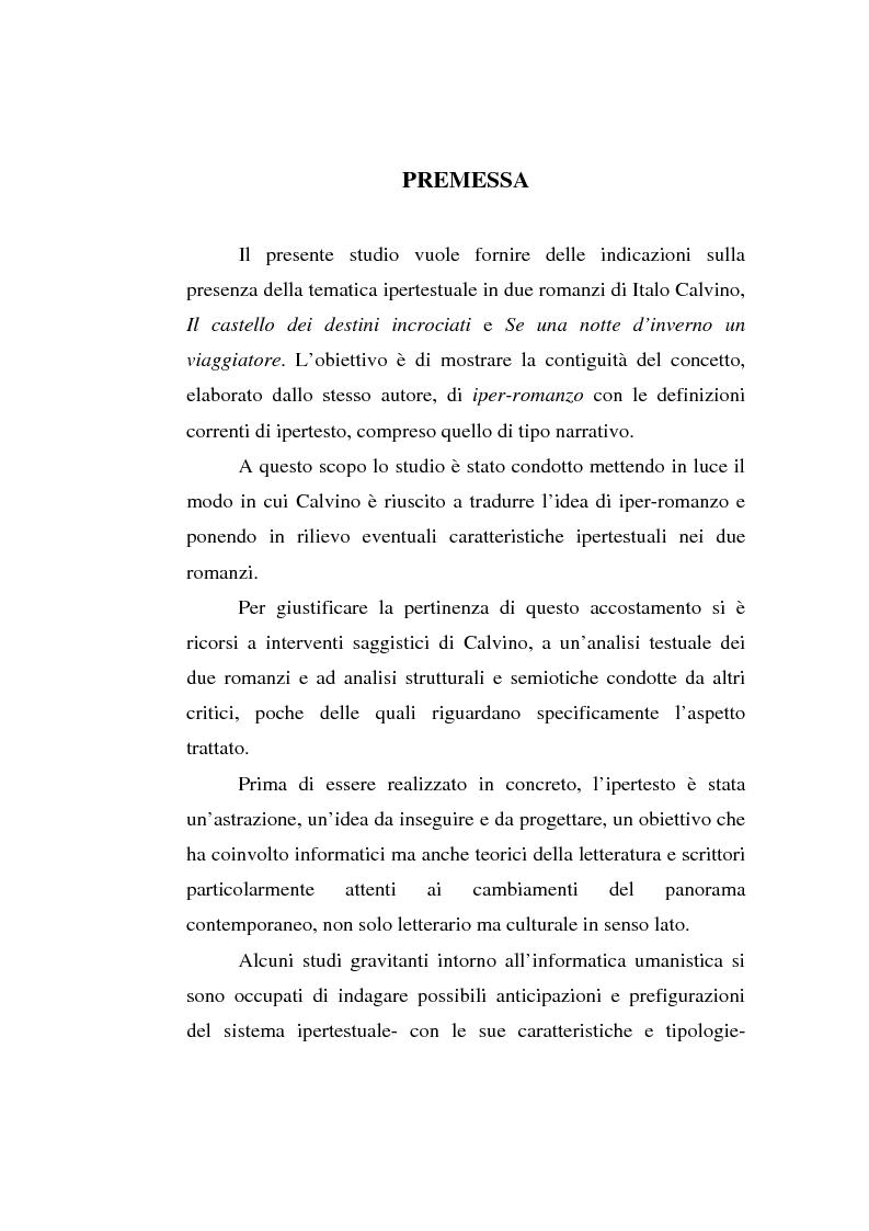 Anteprima della tesi: Italo Calvino e l'iper-romanzo, Pagina 1