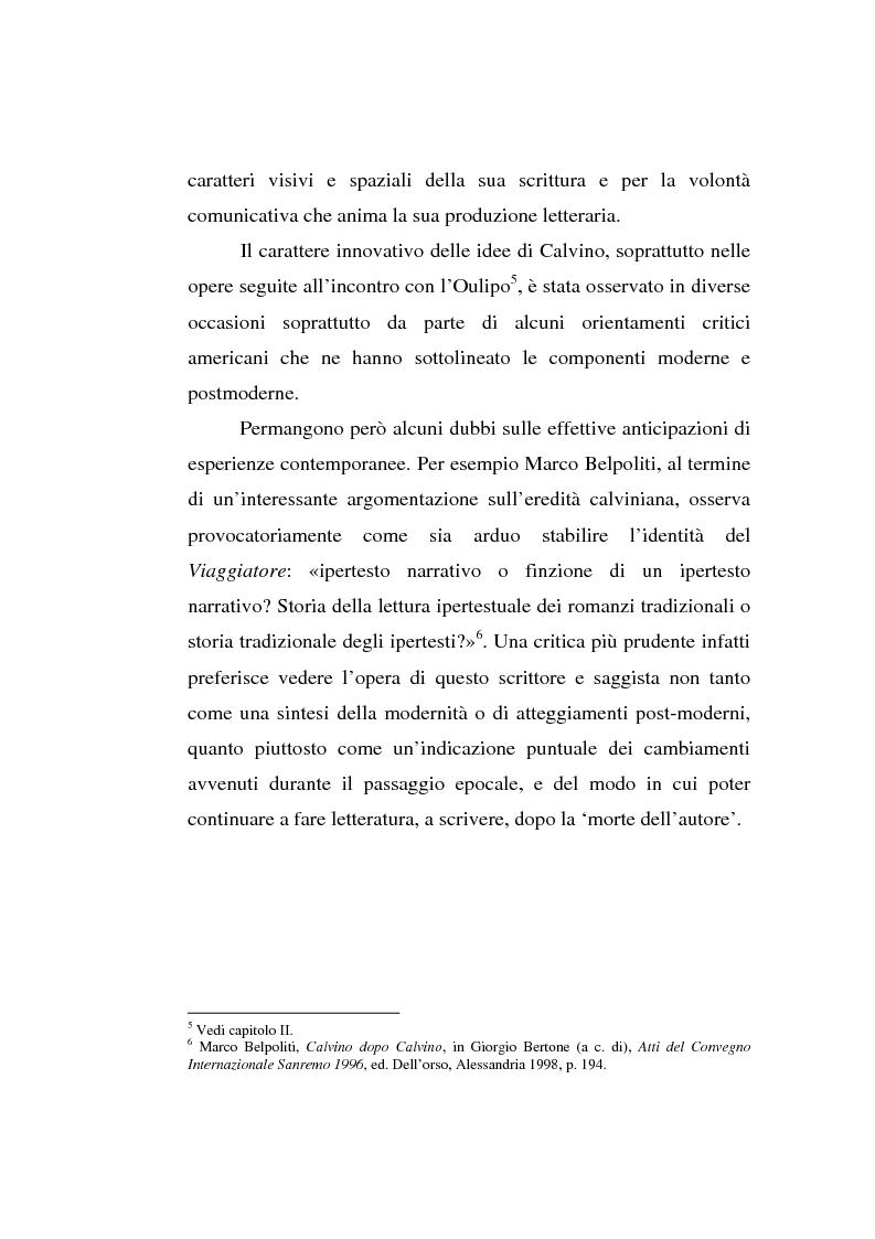 Anteprima della tesi: Italo Calvino e l'iper-romanzo, Pagina 3