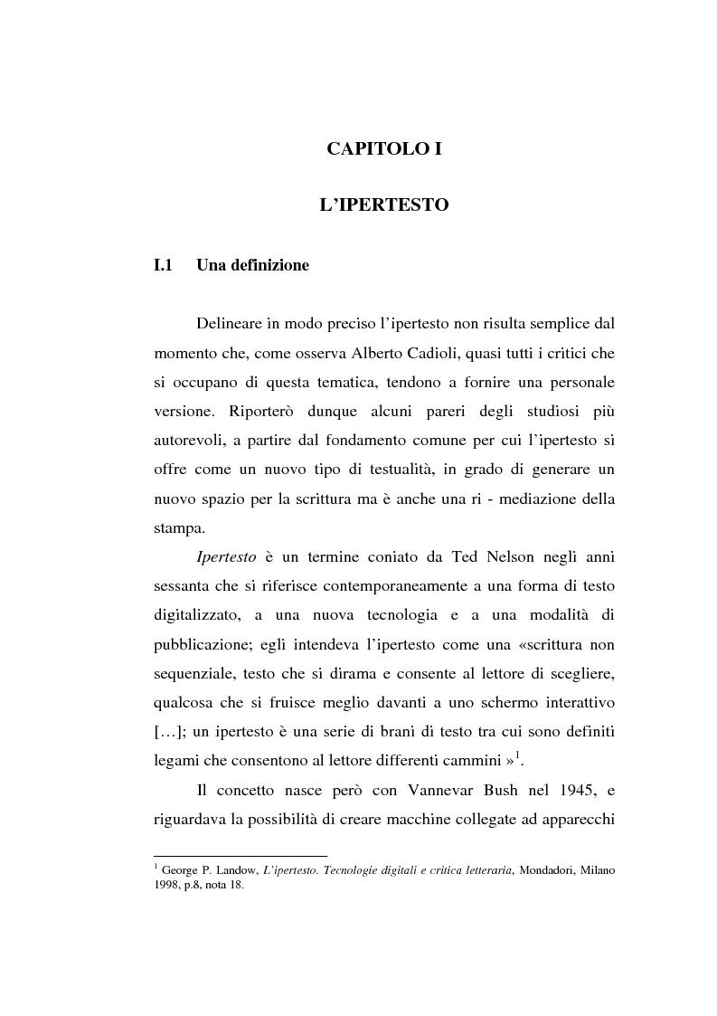 Anteprima della tesi: Italo Calvino e l'iper-romanzo, Pagina 4