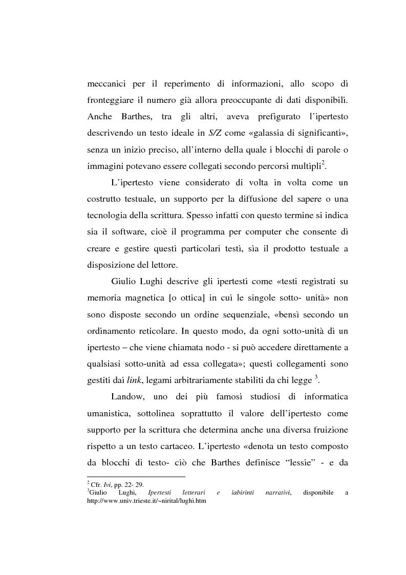Anteprima della tesi: Italo Calvino e l'iper-romanzo, Pagina 5