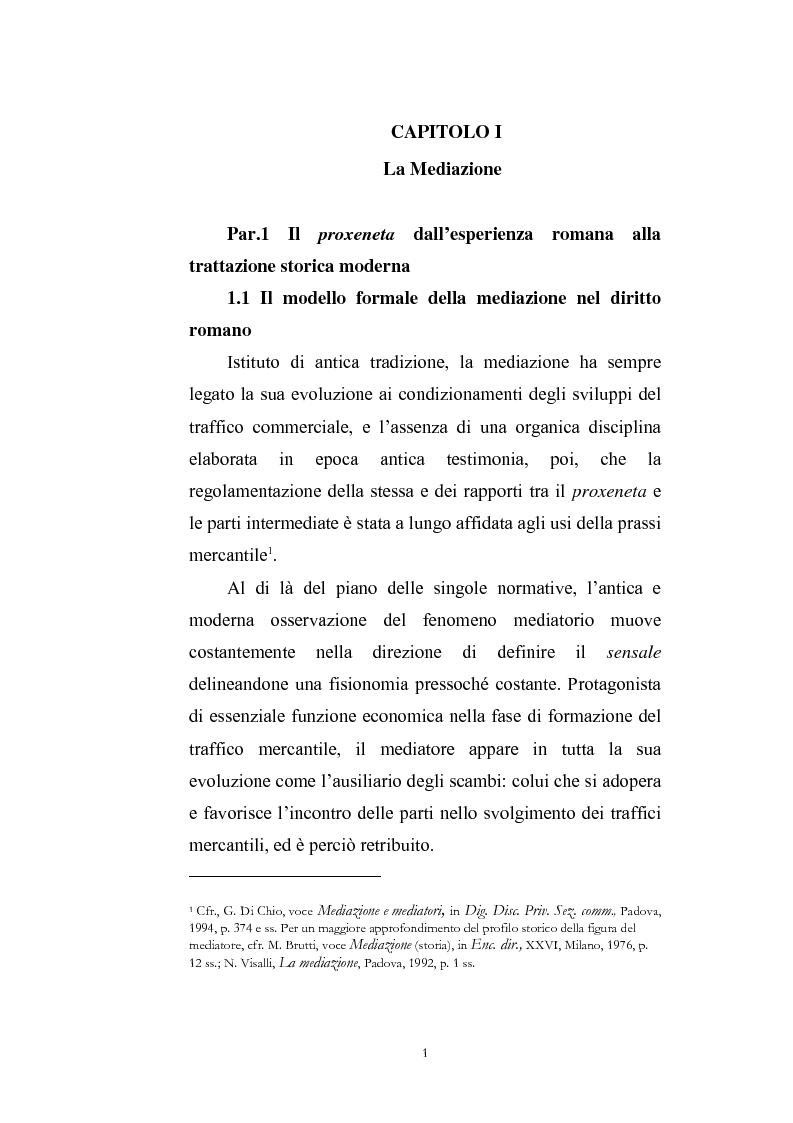 Anteprima della tesi: I contratti di mediazione immobiliare e la tutela del consumatore, Pagina 1