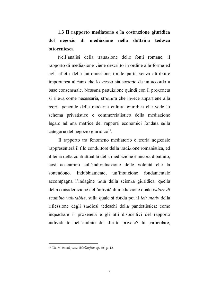 Anteprima della tesi: I contratti di mediazione immobiliare e la tutela del consumatore, Pagina 7