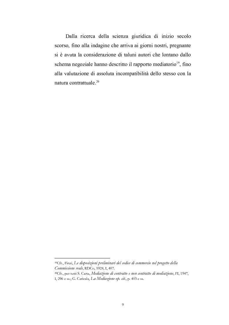 Anteprima della tesi: I contratti di mediazione immobiliare e la tutela del consumatore, Pagina 9