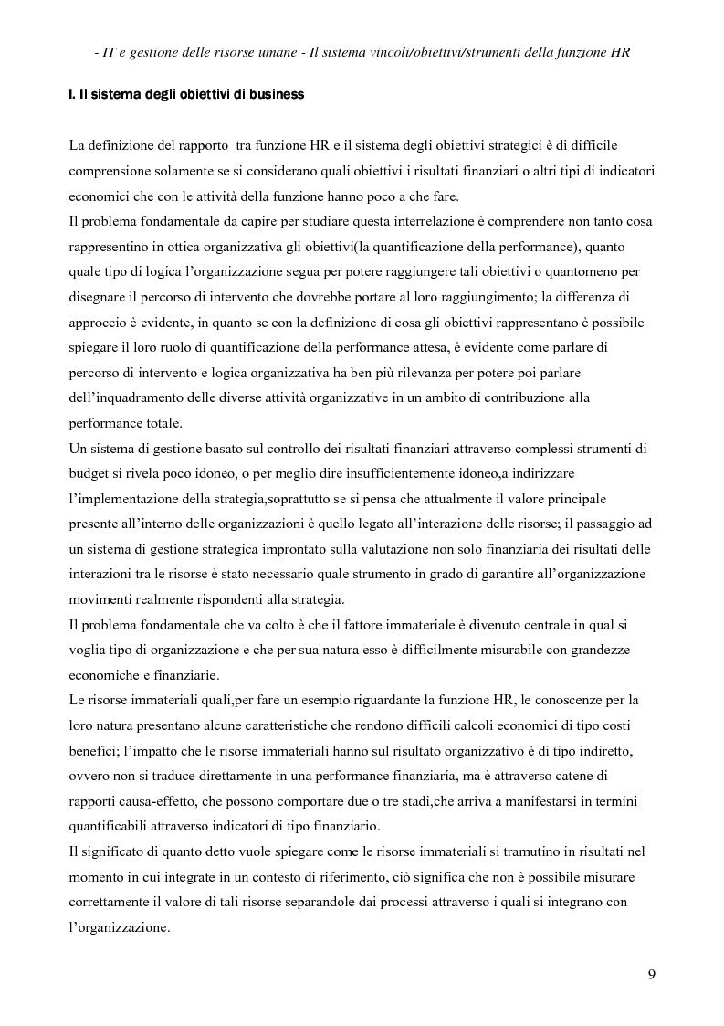 Anteprima della tesi: IT e gestione delle risorse umane, Pagina 10