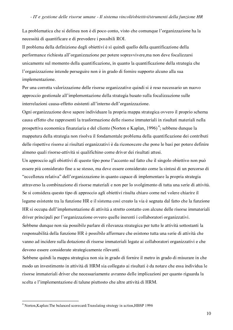 Anteprima della tesi: IT e gestione delle risorse umane, Pagina 11