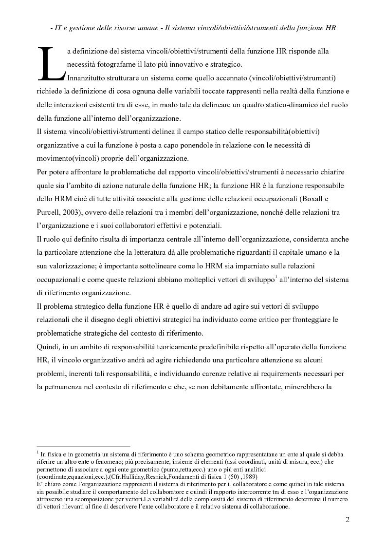 Anteprima della tesi: IT e gestione delle risorse umane, Pagina 3
