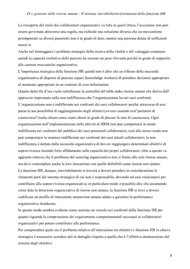 Anteprima della tesi: IT e gestione delle risorse umane, Pagina 9