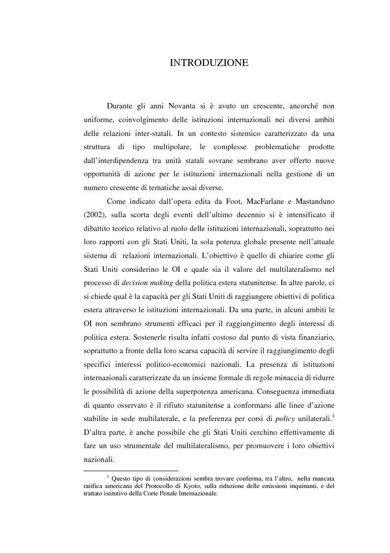 Anteprima della tesi: Il potere strutturale nell'ambito finanziario internazionale: gli Stati Uniti, il Fondo Monetario Internazionale ed i programmi di sostegno alla Russia, 1992-1999, Pagina 1