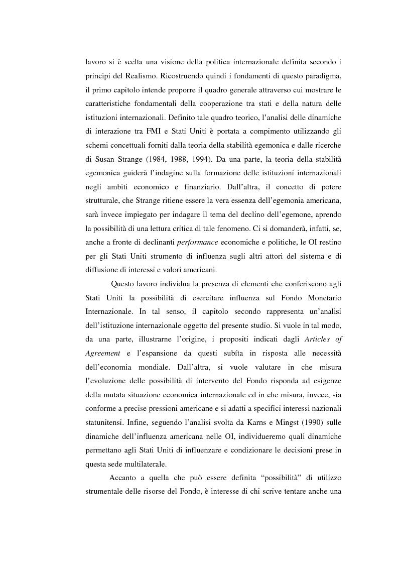 Anteprima della tesi: Il potere strutturale nell'ambito finanziario internazionale: gli Stati Uniti, il Fondo Monetario Internazionale ed i programmi di sostegno alla Russia, 1992-1999, Pagina 3