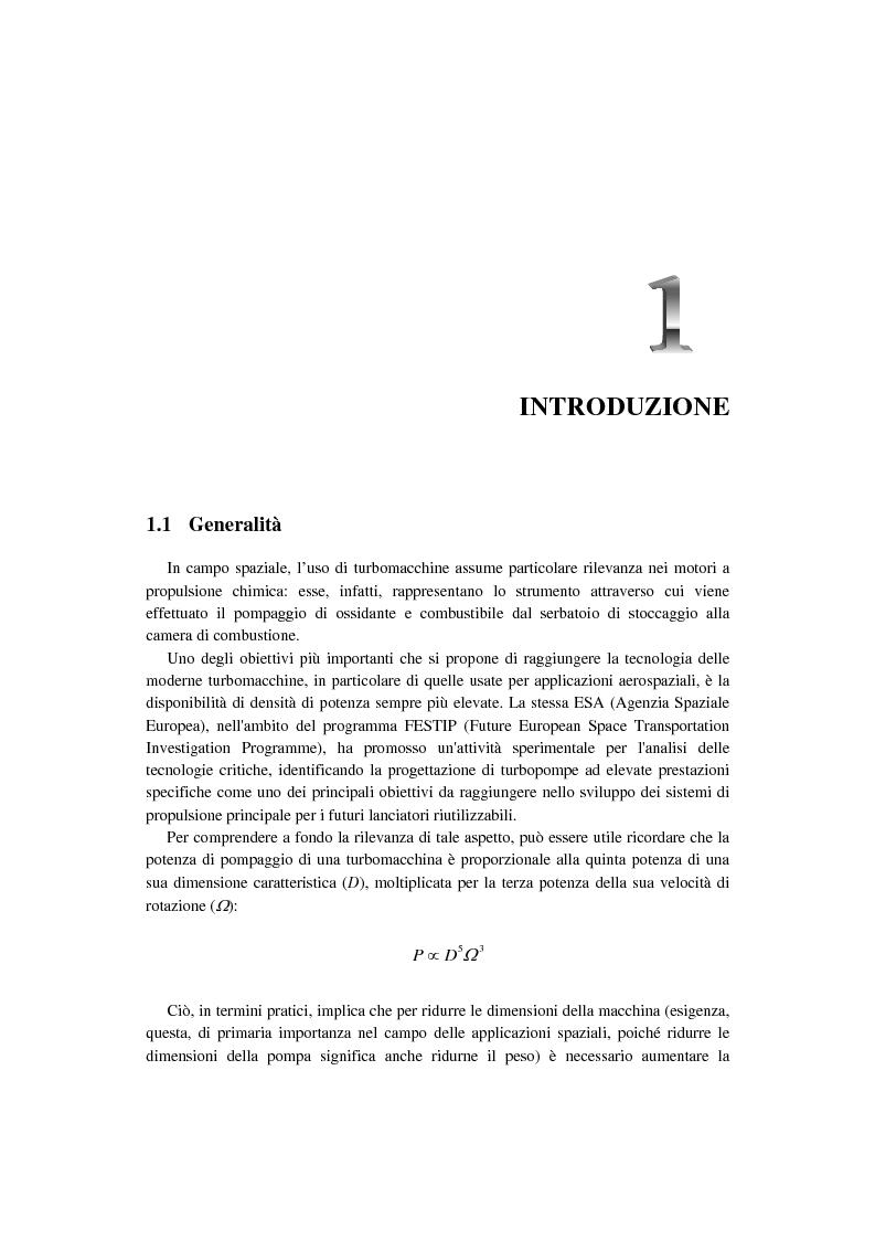 Anteprima della tesi: Progetto costruttivo definitivo di un impianto di prova in similitudine di turbopompe cavitanti, Pagina 1
