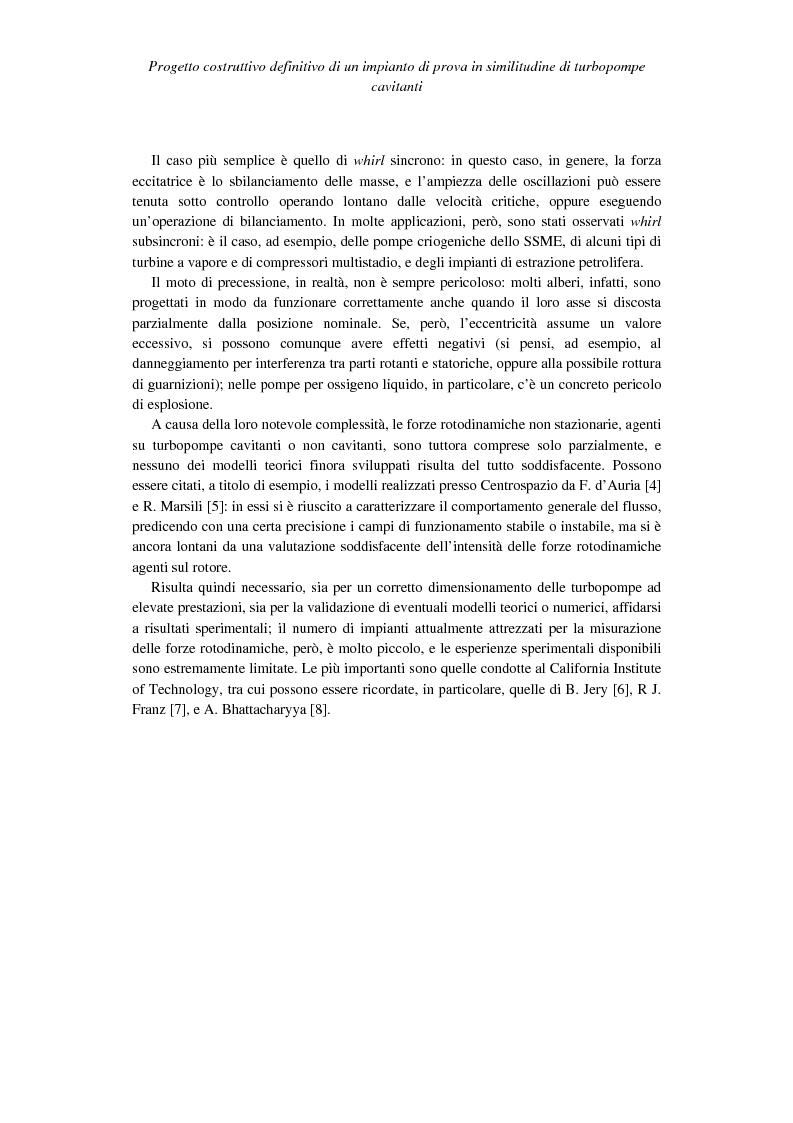Anteprima della tesi: Progetto costruttivo definitivo di un impianto di prova in similitudine di turbopompe cavitanti, Pagina 10