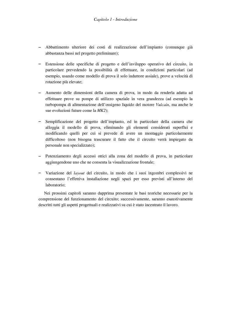 Anteprima della tesi: Progetto costruttivo definitivo di un impianto di prova in similitudine di turbopompe cavitanti, Pagina 13