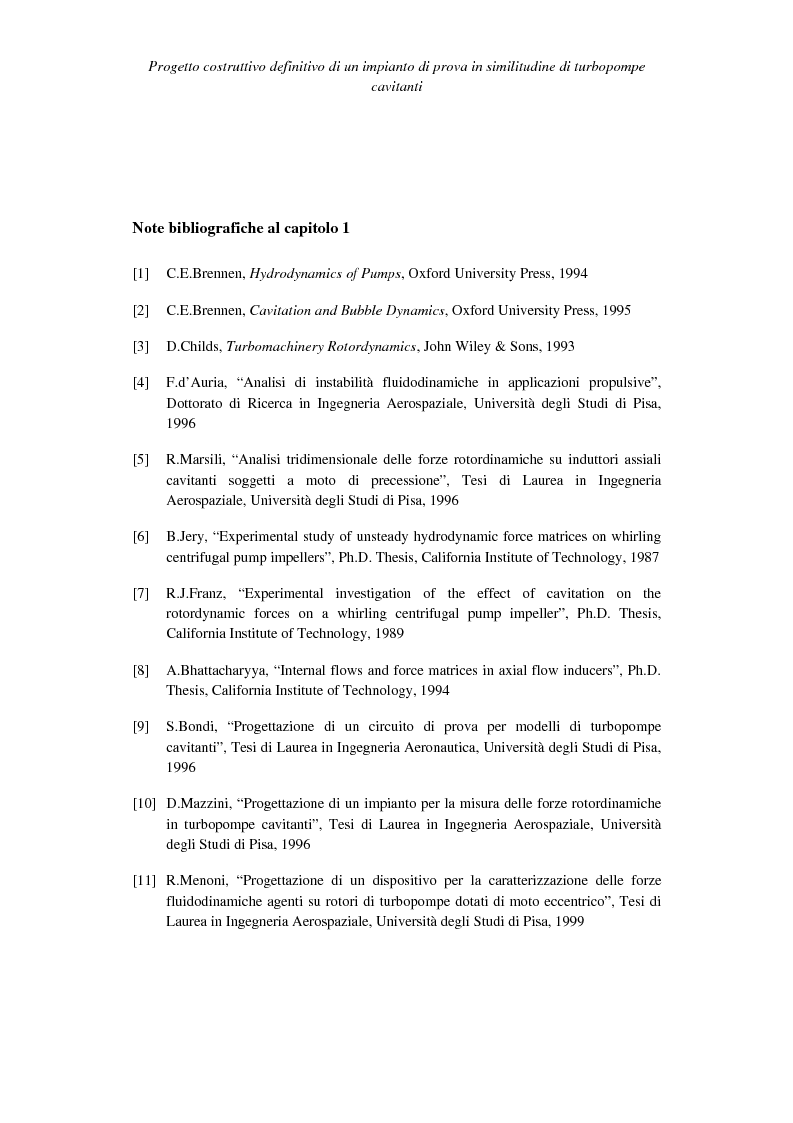 Anteprima della tesi: Progetto costruttivo definitivo di un impianto di prova in similitudine di turbopompe cavitanti, Pagina 14