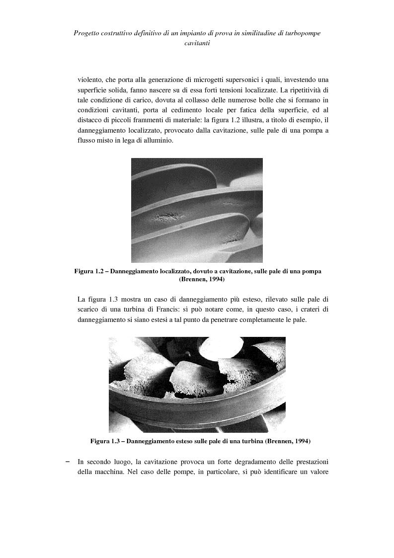 Anteprima della tesi: Progetto costruttivo definitivo di un impianto di prova in similitudine di turbopompe cavitanti, Pagina 4