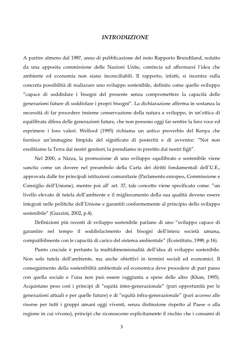 Anteprima della tesi: Sviluppo sostenibile e conservazione nei parchi naturali. Gli aspetti teorici, la realtà italiana, il caso del Parco Regionale di Migliarino San Rossore Massaciuccoli, Pagina 1
