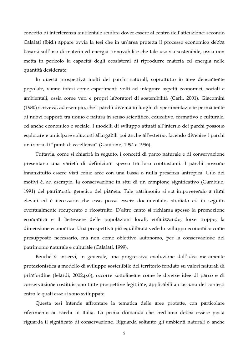 Anteprima della tesi: Sviluppo sostenibile e conservazione nei parchi naturali. Gli aspetti teorici, la realtà italiana, il caso del Parco Regionale di Migliarino San Rossore Massaciuccoli, Pagina 3