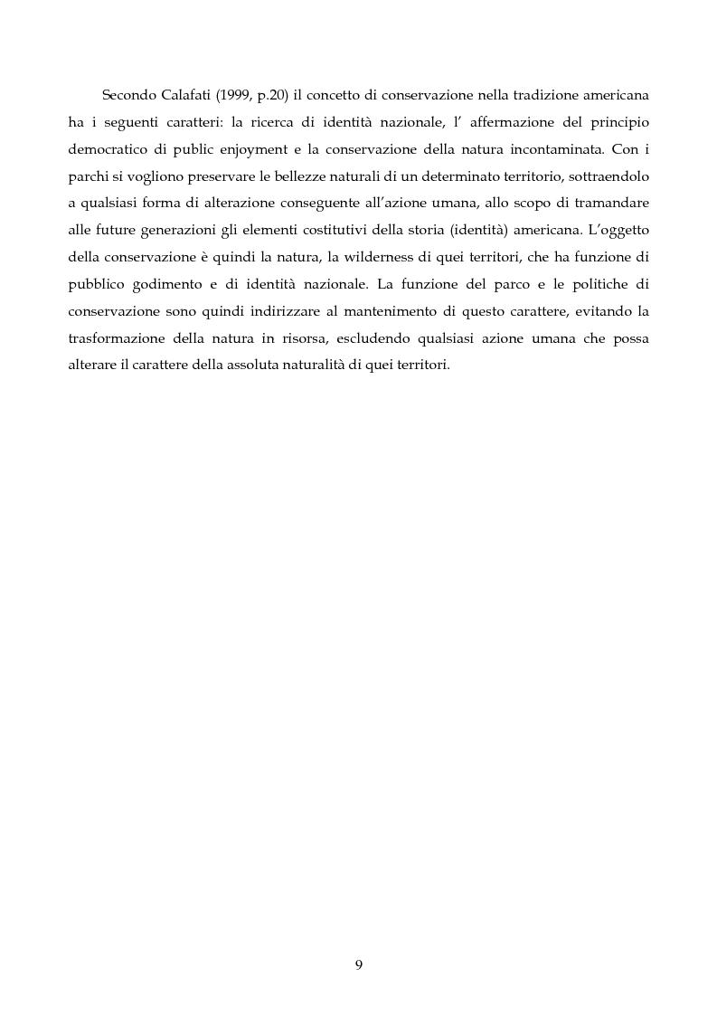 Anteprima della tesi: Sviluppo sostenibile e conservazione nei parchi naturali. Gli aspetti teorici, la realtà italiana, il caso del Parco Regionale di Migliarino San Rossore Massaciuccoli, Pagina 7