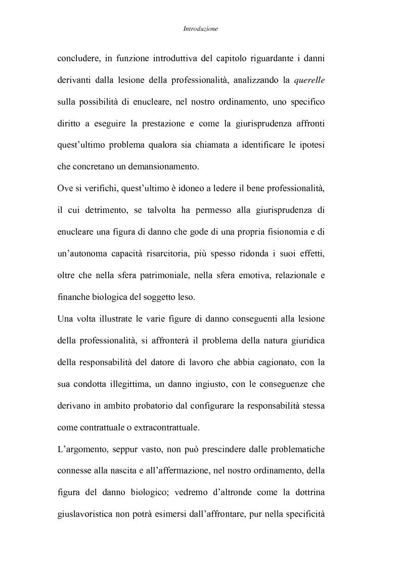 Anteprima della tesi: Il danno da lesione della professionalità, Pagina 3