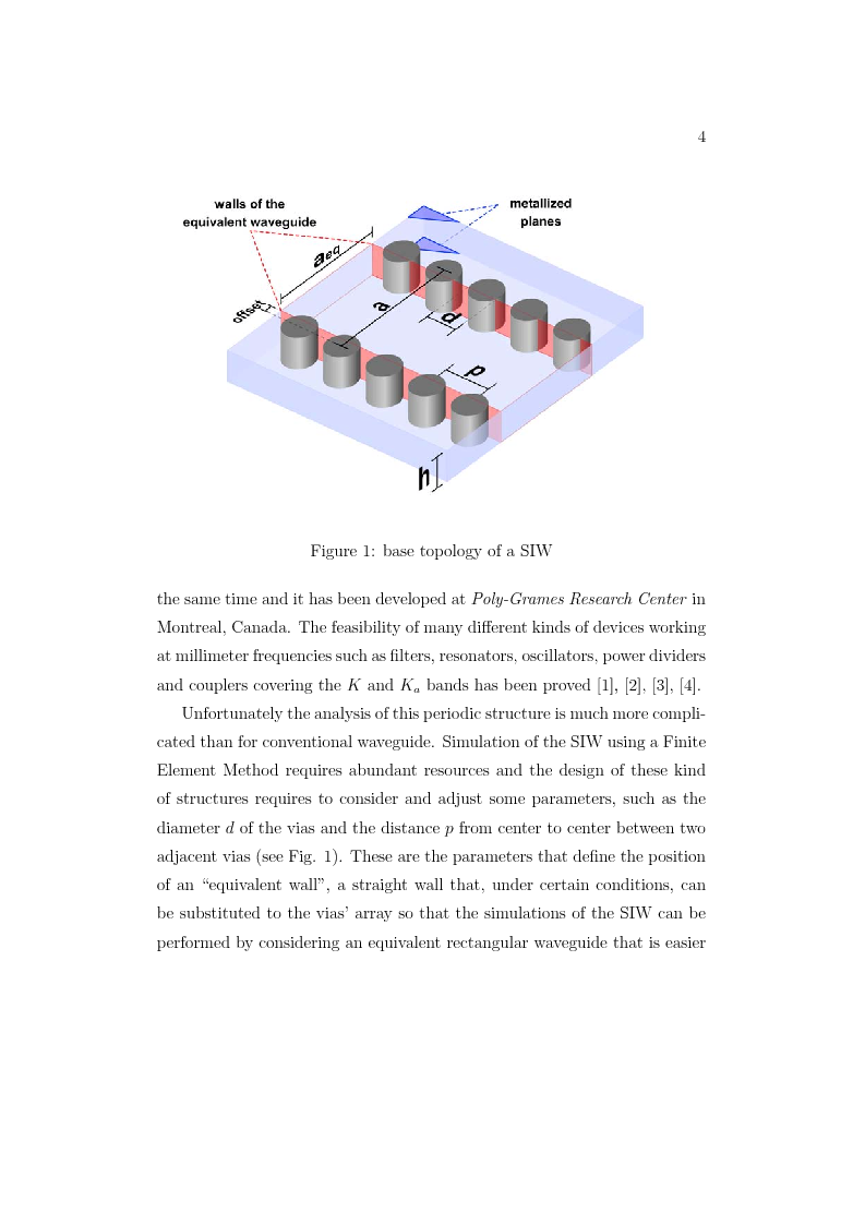 Anteprima della tesi: A substrate integrated power divider/combiner for multidevice millimeter wawe applications, Pagina 2