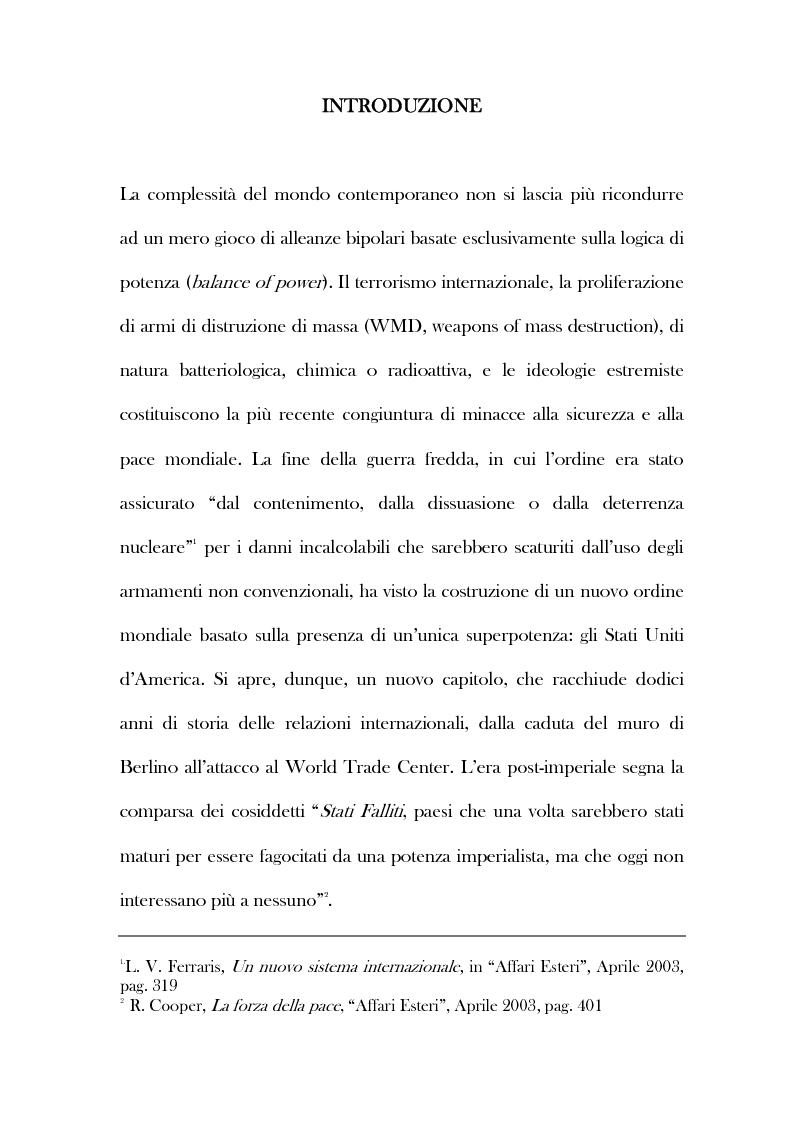 Anteprima della tesi: Politica e diritto internazionale nel dibattito sul conflitto iracheno 2003, Pagina 1