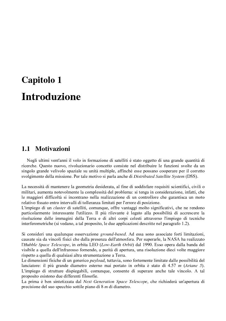 Anteprima della tesi: Dinamica e controllo di satelliti in formazione, Pagina 2