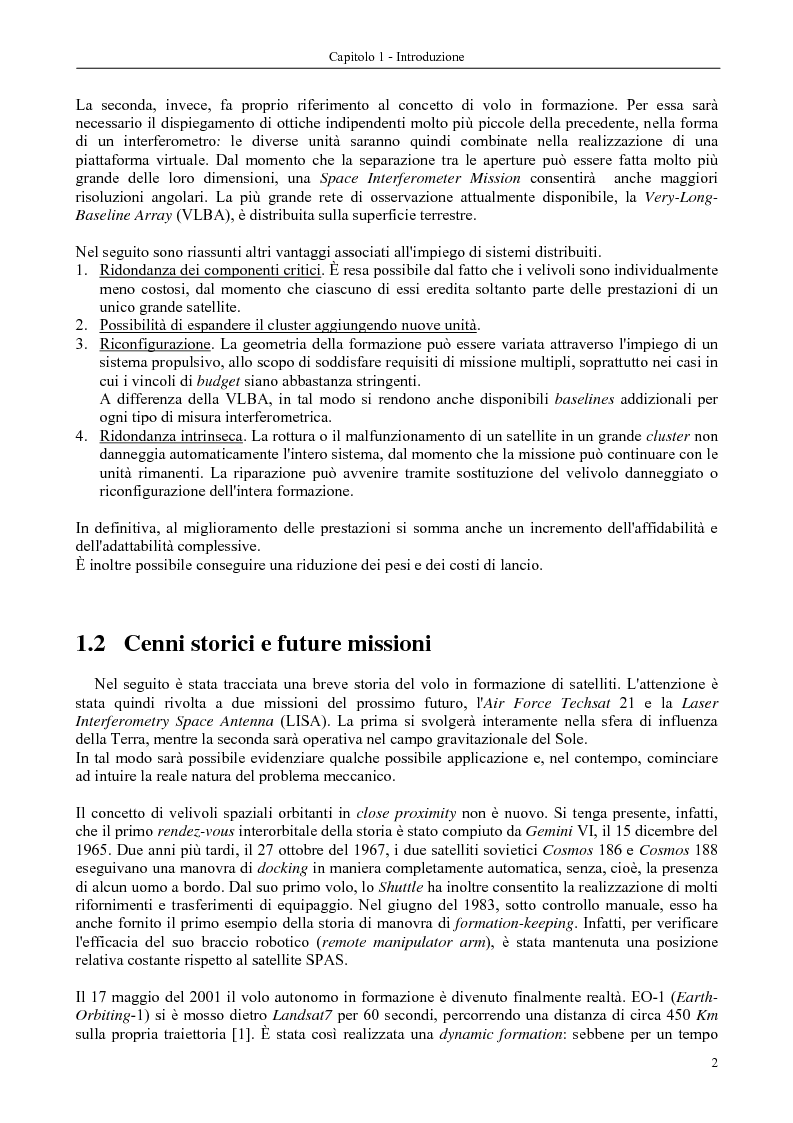 Anteprima della tesi: Dinamica e controllo di satelliti in formazione, Pagina 3