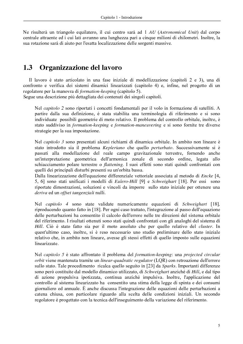 Anteprima della tesi: Dinamica e controllo di satelliti in formazione, Pagina 6