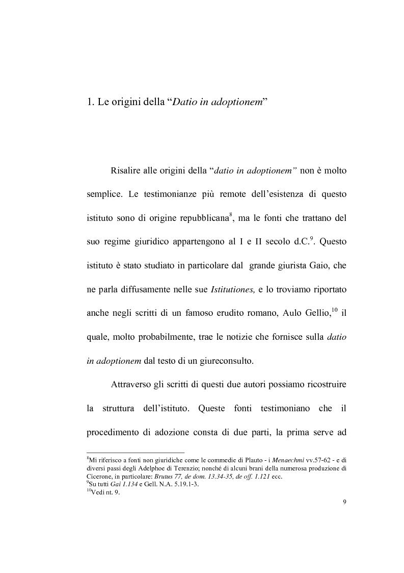 Anteprima della tesi: La datio in adoptionem, Pagina 7