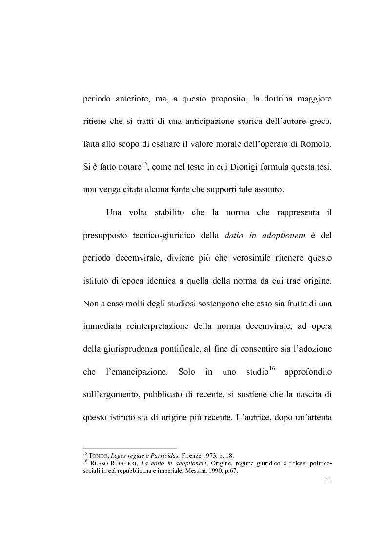Anteprima della tesi: La datio in adoptionem, Pagina 9
