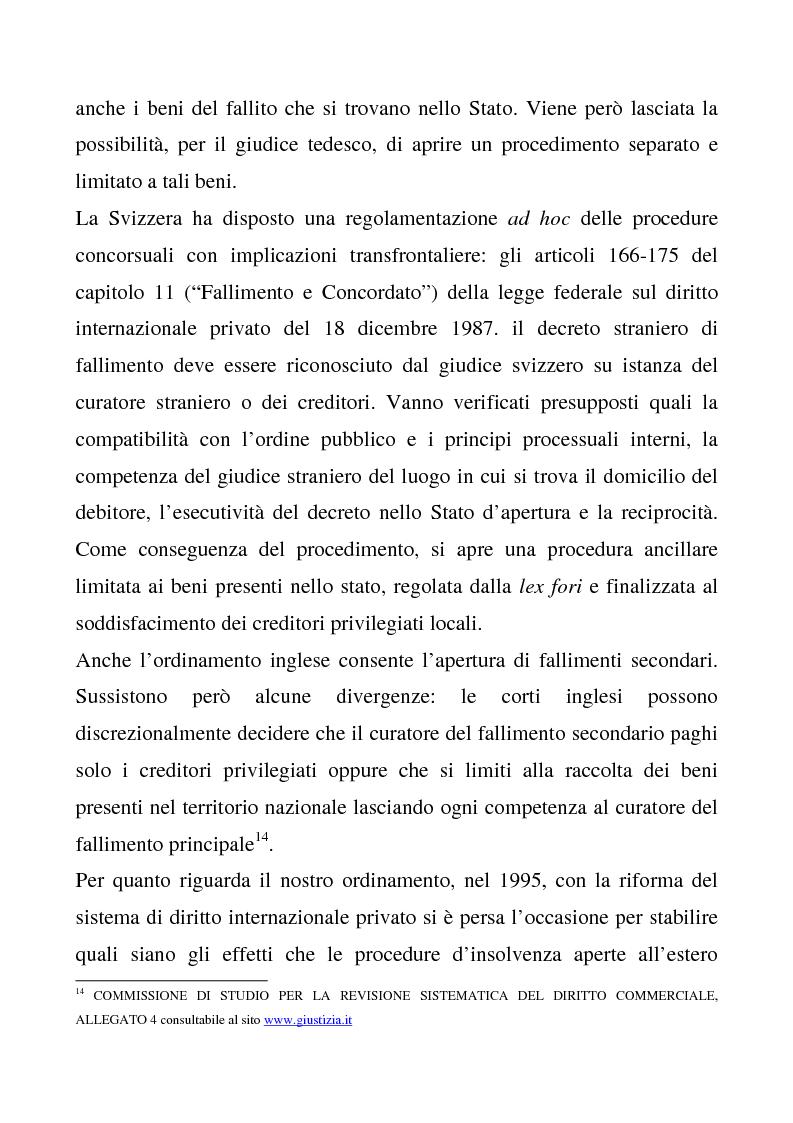 Anteprima della tesi: Il regolamento comunitario 1346/2000 relativo alle procedure d'insolvenza, Pagina 10