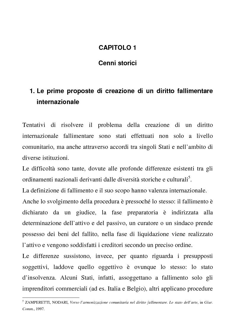 Anteprima della tesi: Il regolamento comunitario 1346/2000 relativo alle procedure d'insolvenza, Pagina 4