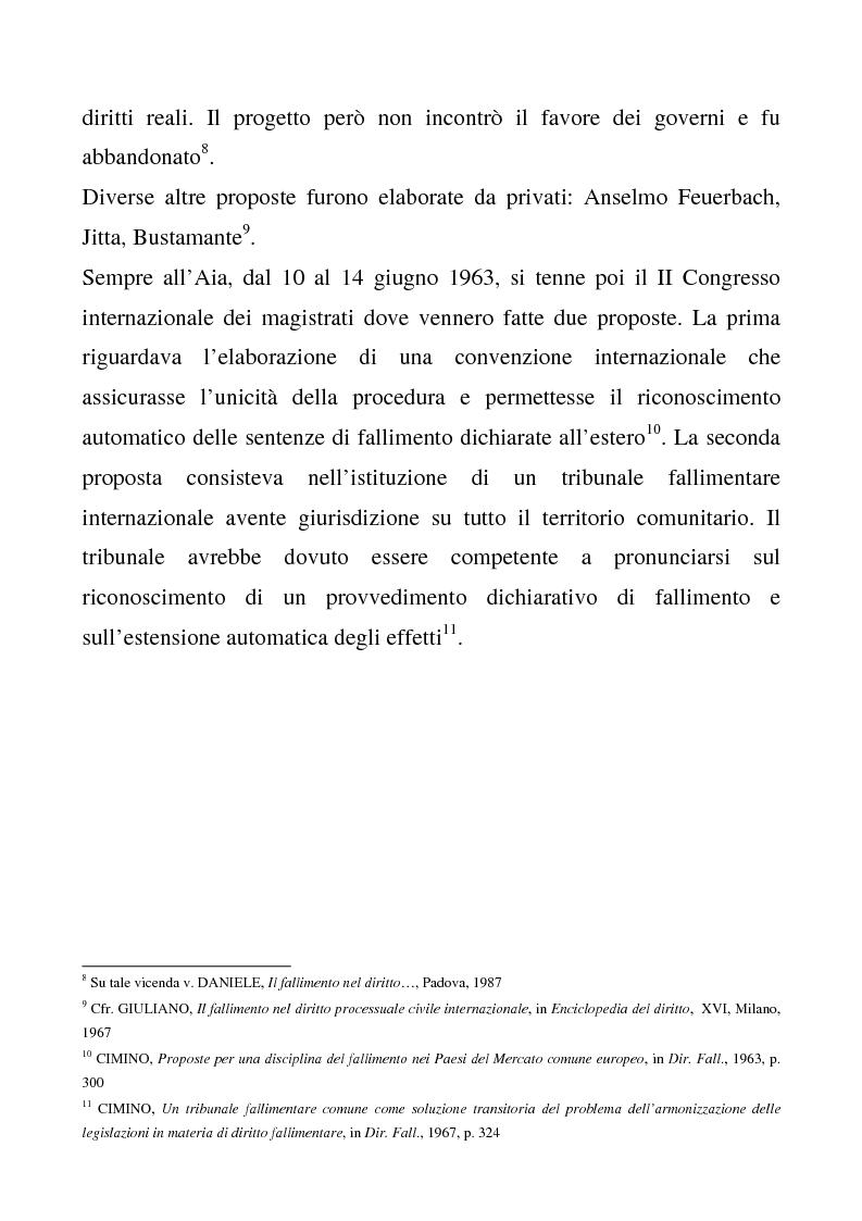 Anteprima della tesi: Il regolamento comunitario 1346/2000 relativo alle procedure d'insolvenza, Pagina 7