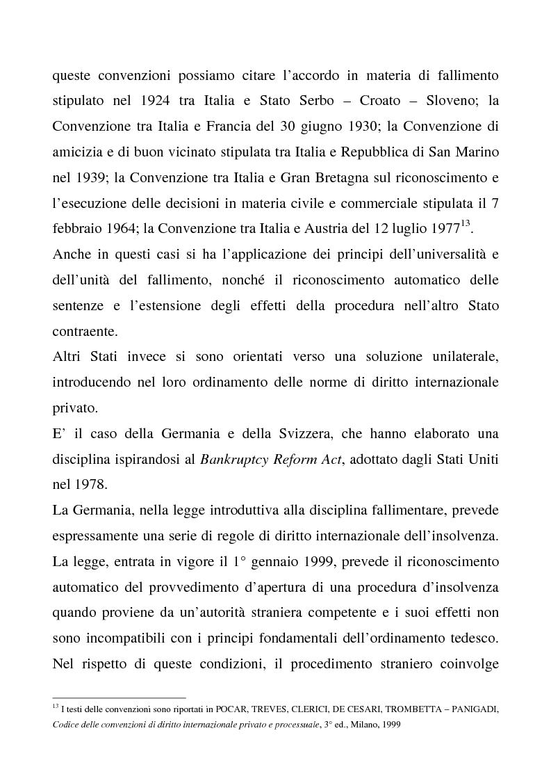 Anteprima della tesi: Il regolamento comunitario 1346/2000 relativo alle procedure d'insolvenza, Pagina 9
