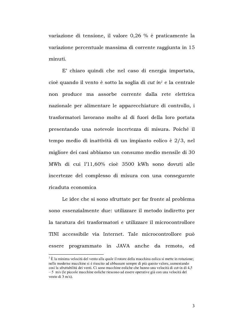 Anteprima della tesi: Un sistema automatico di taratura on-line ai bassi carichi dei trasformatori di misura per energia eolica, Pagina 2
