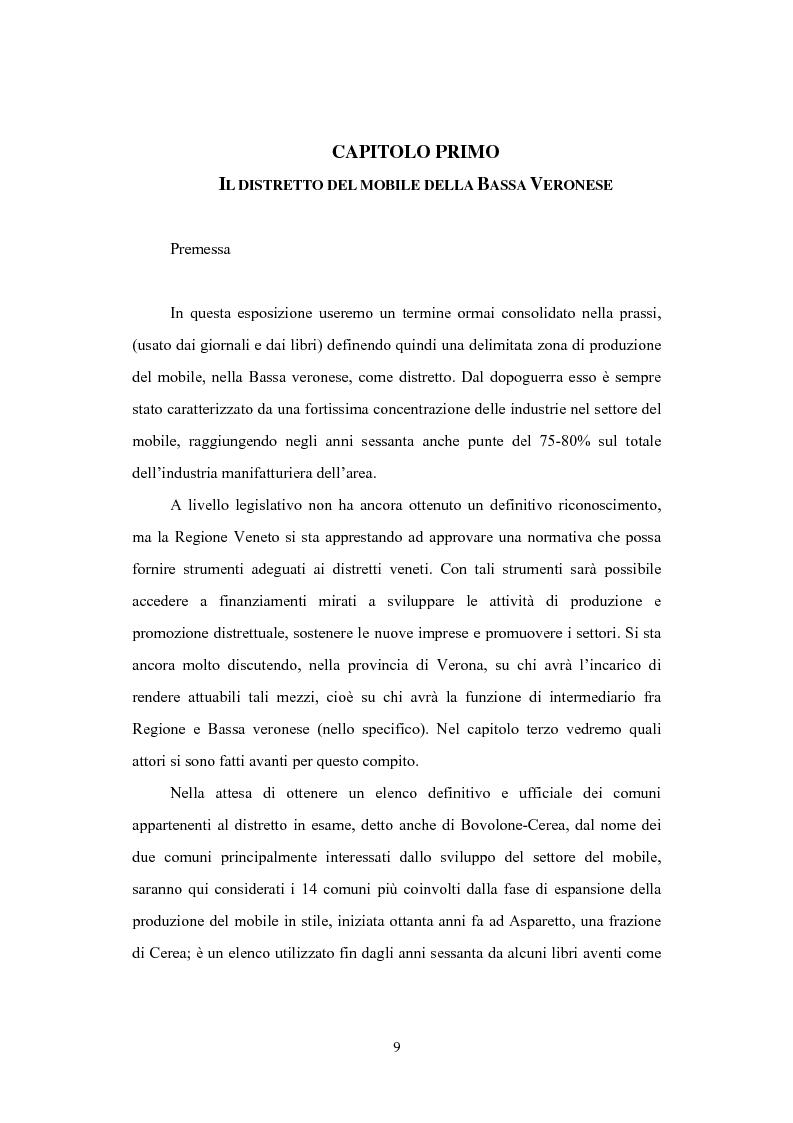 Anteprima della tesi: Il distretto del mobile della bassa veronese, Pagina 5