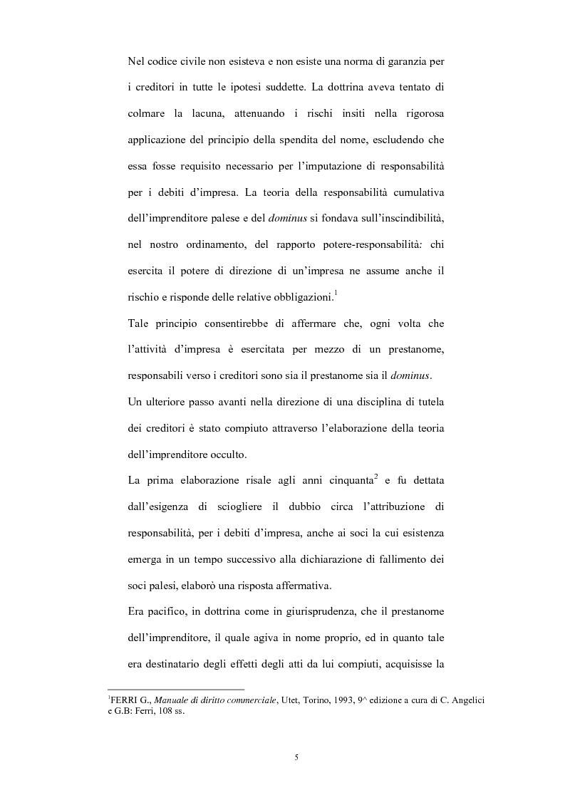 Anteprima della tesi: L'imprenditore occulto nella giurisprudenza, Pagina 2