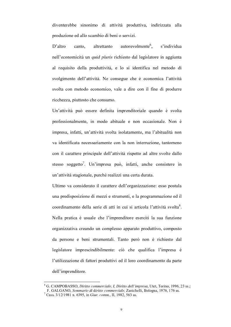 Anteprima della tesi: L'imprenditore occulto nella giurisprudenza, Pagina 6