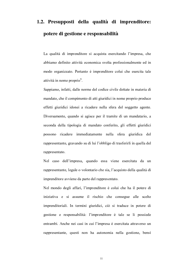 Anteprima della tesi: L'imprenditore occulto nella giurisprudenza, Pagina 8