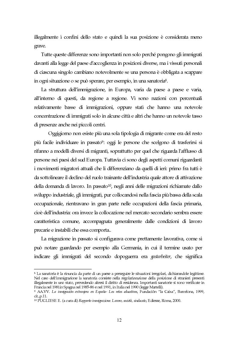 Anteprima della tesi: Piccoli immigrati in Europa. Confronto tra le strategie di inserimento scolastico, Pagina 12